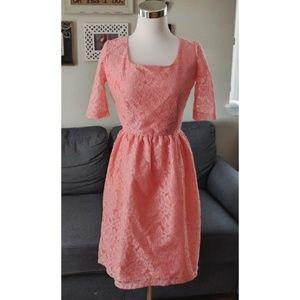 Shabby Apple peach light coral lace dress